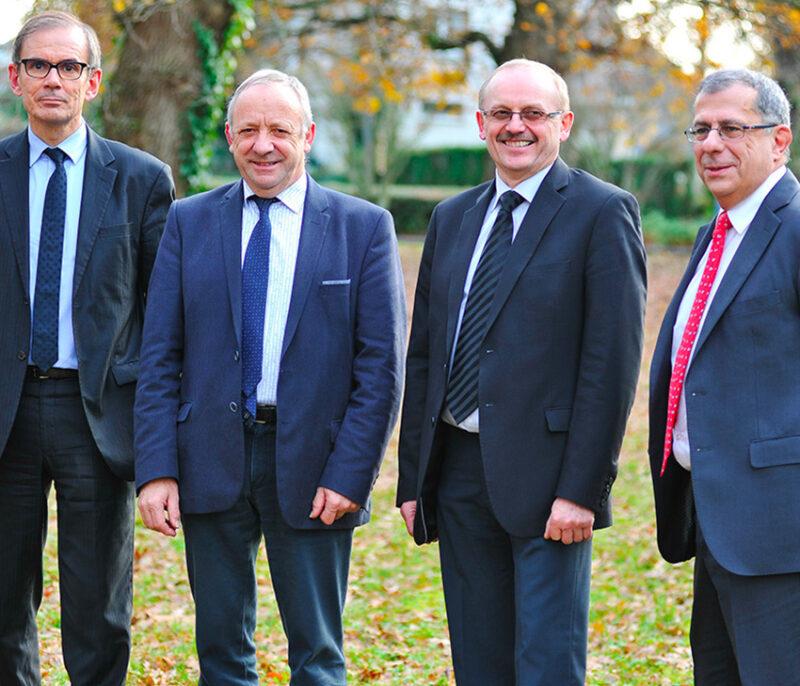 Les présidents et directeurs des groupes d'aucy et Triskalia s'unissent pour créer le groupe Eureden