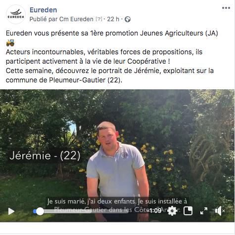 JA STORY Eureden : une campagne vidéo pour présenter nos Jeunes Agriculteurs sur les réseaux sociaux